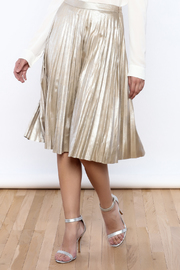 Shoptiques Product: Gold Suede Pleated Skirt