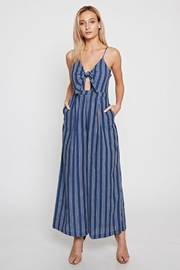 Bio Keyhole Navy Jumpsuit - Front cropped
