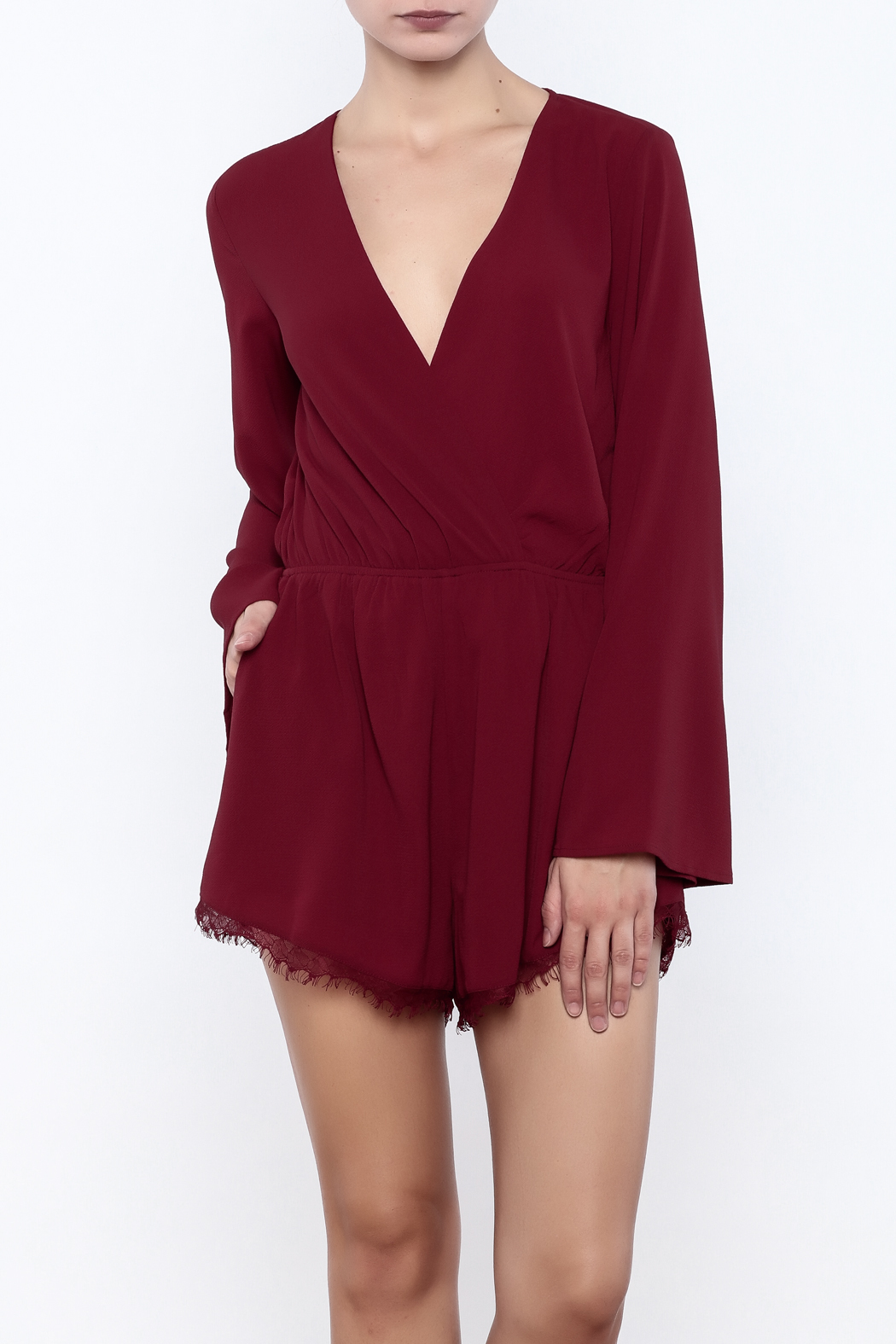 ea0e9e6489ab Bio Long Sleeve Romper from Brooklyn by BB Collective — Shoptiques