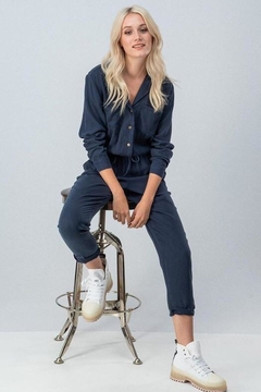 Shoptiques Product: Navy Jumpsuit