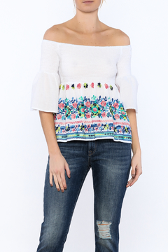 Shoptiques Product: Soft White Embroidered Top