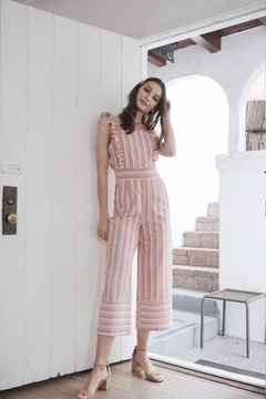Bio Red Ruffle Jumpsuit - Product List Image