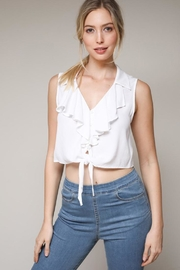 Bio Ruffle Tie Top - Front cropped