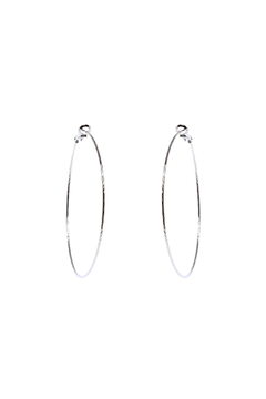 Shoptiques Product: Silver Hoop Earrings