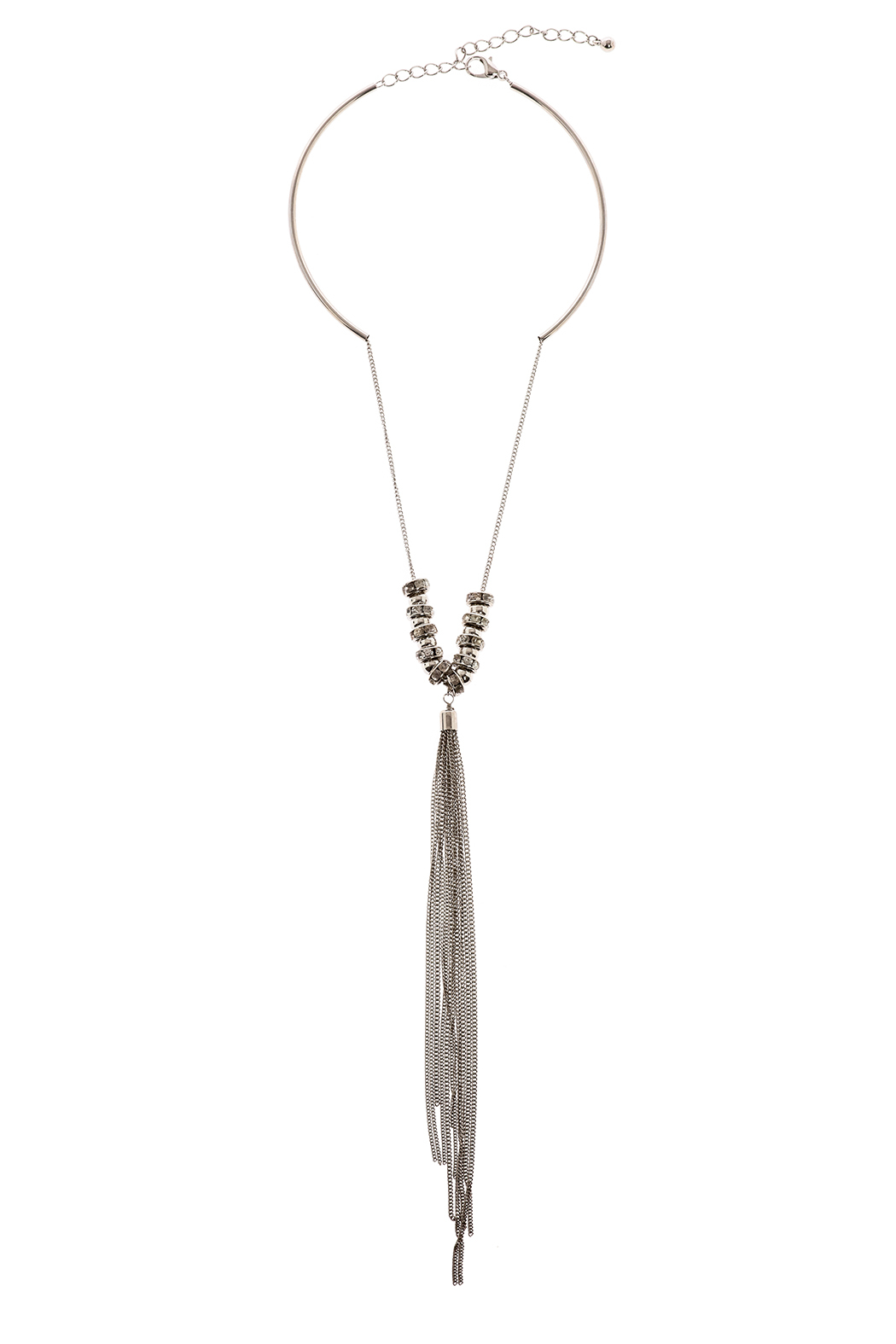 Bio Silver Tassel Necklace - Main Image
