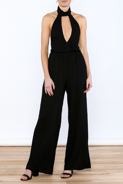 Shoptiques Product: Sexy Black Sleeveless Jumpsuit