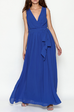 Shoptiques Product: Solid Sleeveless Chiffon Maxi Dress