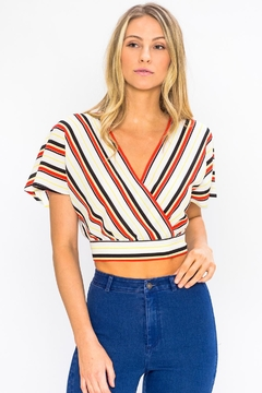 Shoptiques Product: Stripe Butterfly Top