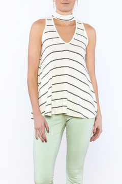 Shoptiques Product: Casual Stripe Sleeveless Blouse