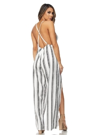 Bio Stripe Jumpsuit - Front full body