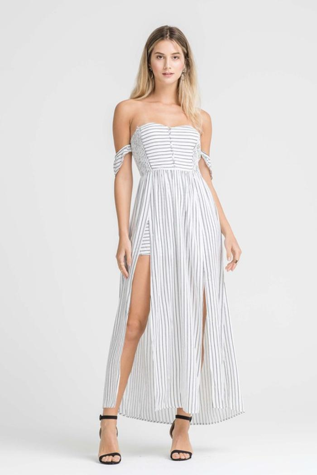 Bio Stripe Maxi/short - Front Cropped Image