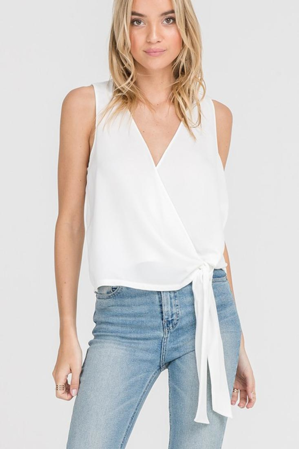 Bio Tie Front Blouse - Front Cropped Image