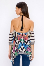 Bio Tropical Halter Blouse - Back cropped