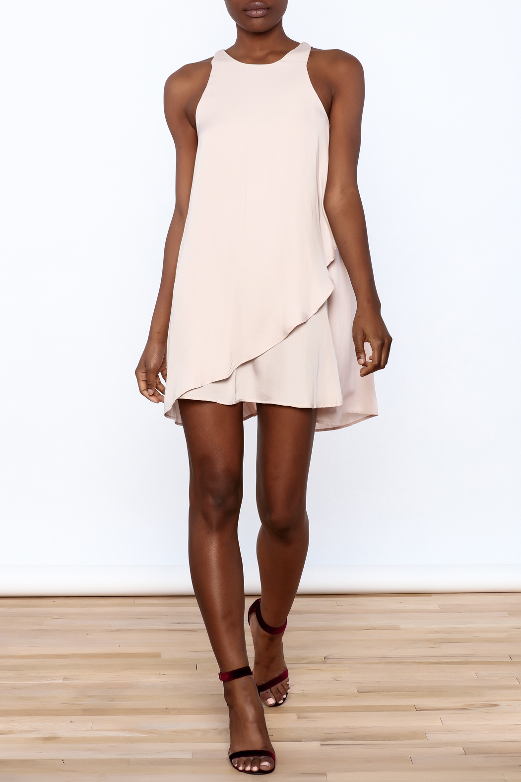 Bio Blush Pink Tulip Dress - Front Full Image