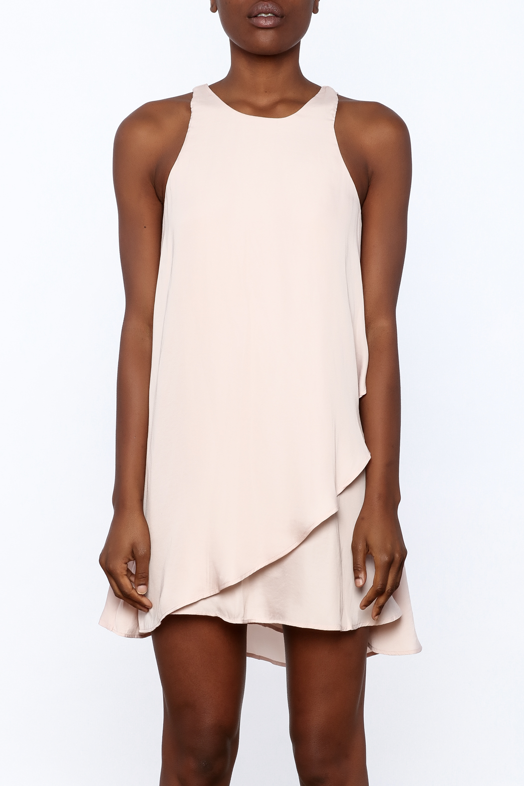 Bio Blush Pink Tulip Dress - Side Cropped Image