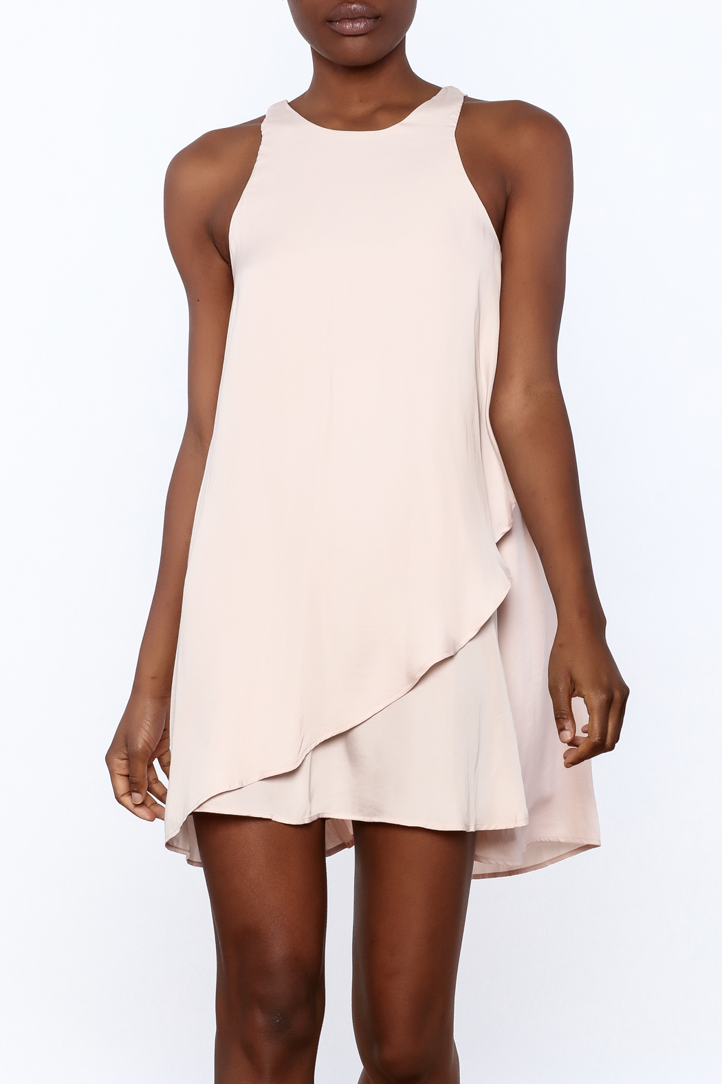 Bio Blush Pink Tulip Dress - Main Image