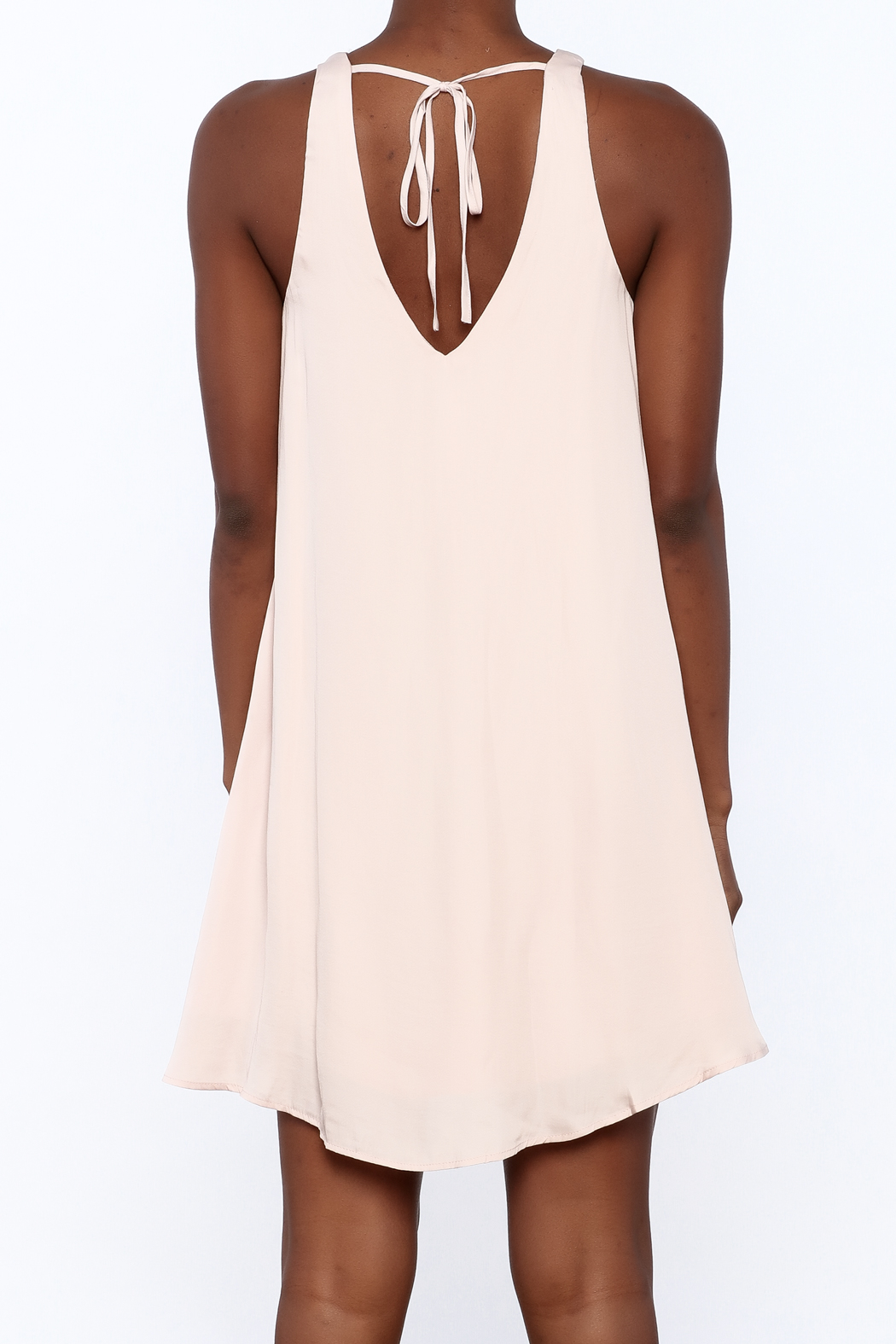 Bio Blush Pink Tulip Dress - Back Cropped Image