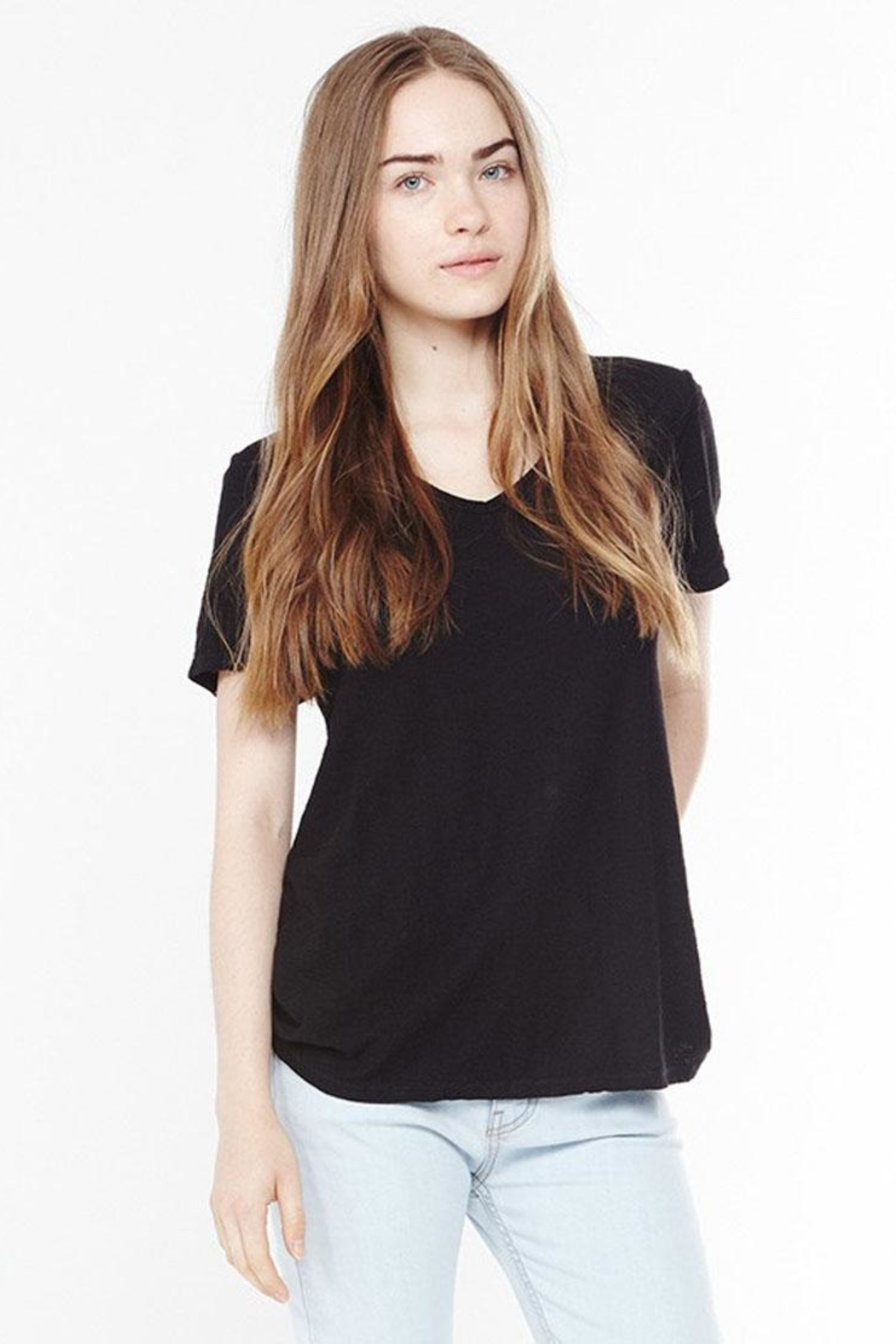 Bio V-Neck Tee - Front Cropped Image