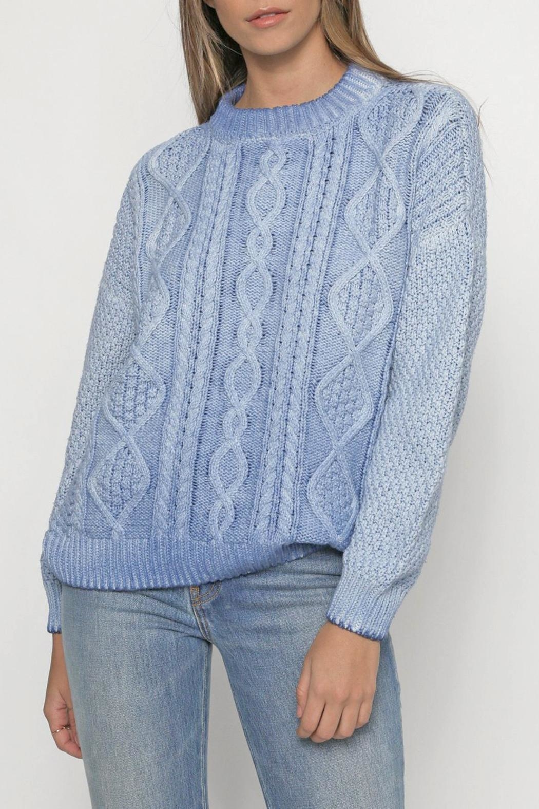 Christina Lehr Birch Marine Sweater - Front Cropped Image