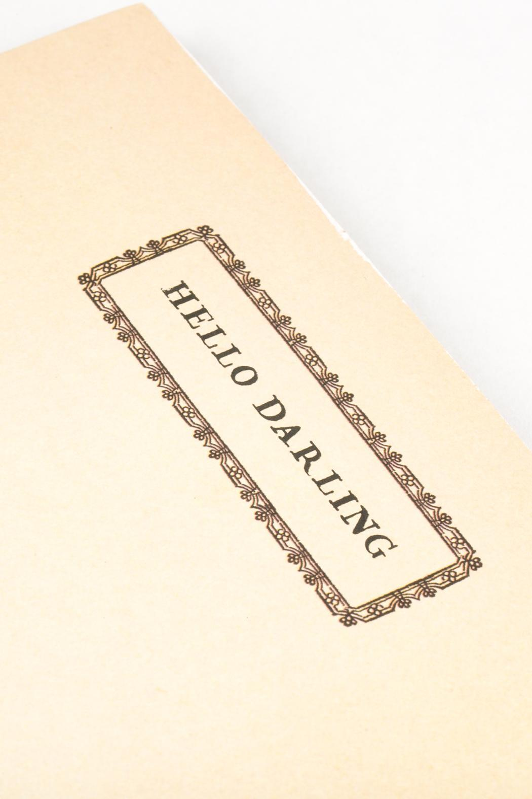 birchalley Hello Darling Notepad - Front Full Image