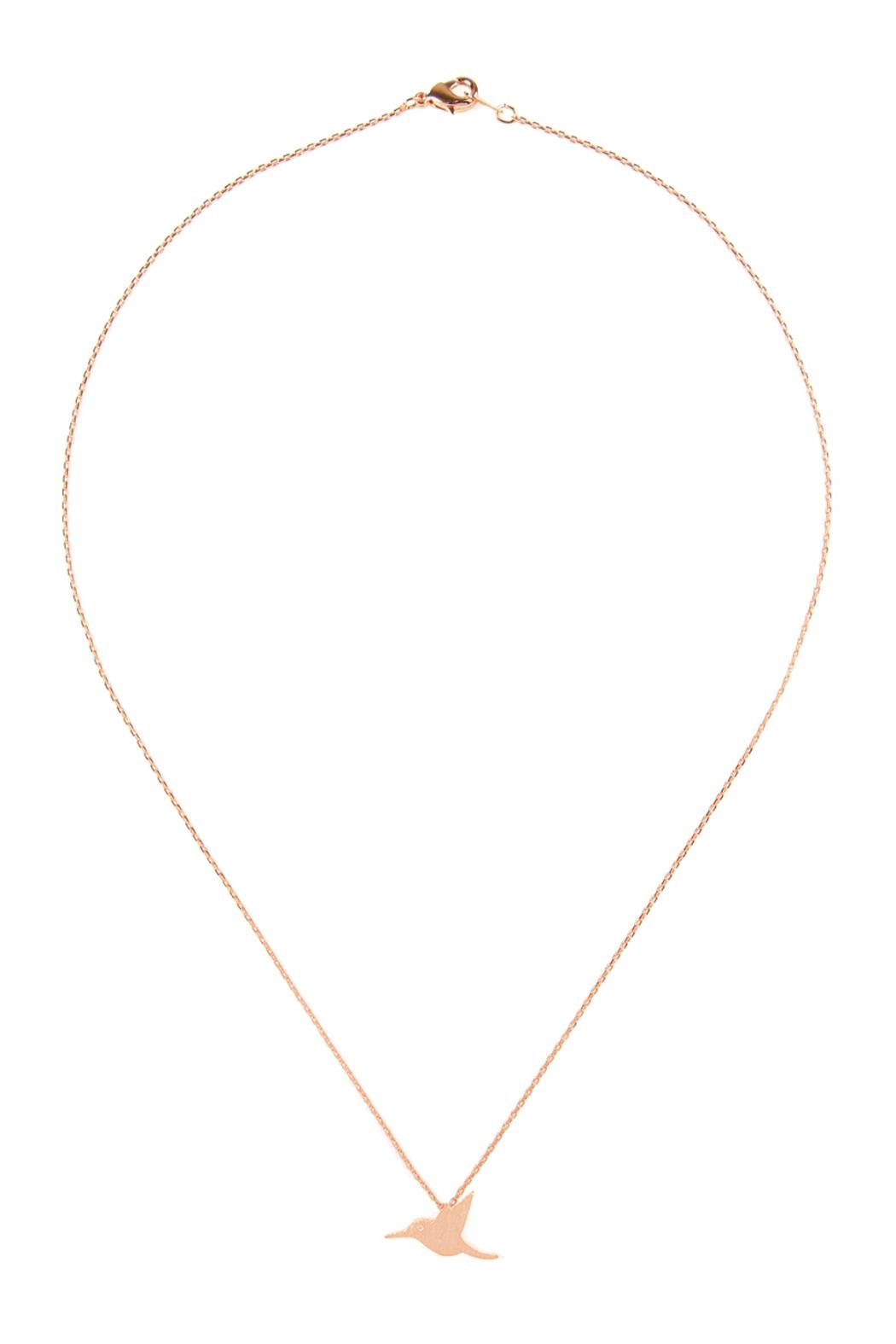 Riah Fashion Bird-Cast-Pendant-Necklace - Front Cropped Image