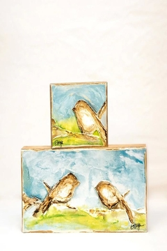 Ginger Leigh Bird On Wood - Product List Image