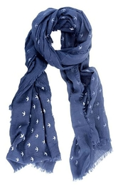 Joy Susan Accessories Bird Print Scarf - Product Mini Image