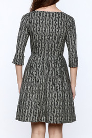 Birds of North America Grey Print Knee Dress - Back cropped