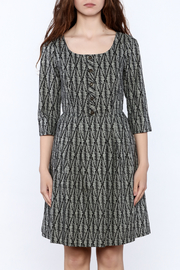 Birds of North America Grey Print Knee Dress - Side cropped