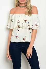 Palacio Birds Print Top - Product Mini Image