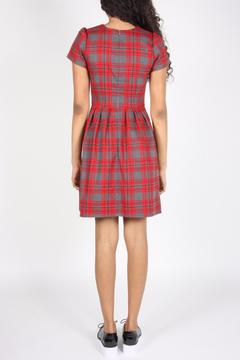 Birds of North America Fitted Plaid Dress - Alternate List Image