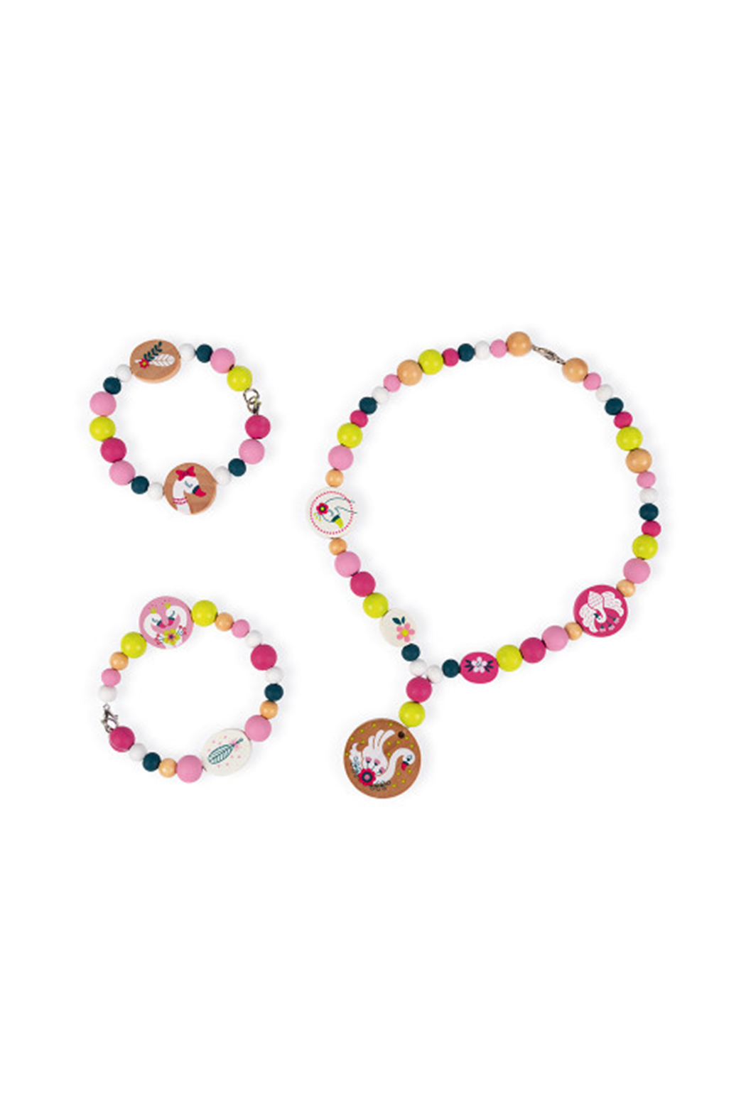 Janod Birdy 200 Wooden Beads - Front Full Image