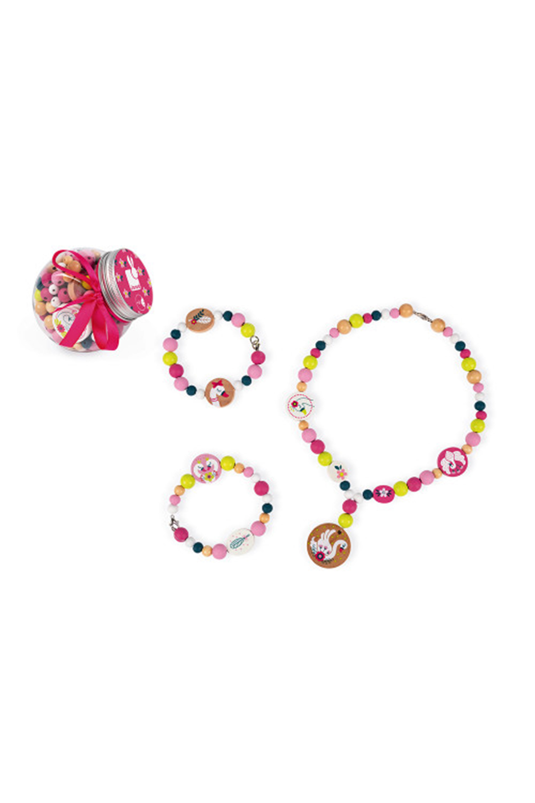 Janod Birdy 200 Wooden Beads - Front Cropped Image