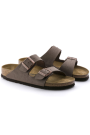 Birkenstock Arizona Birkibuc Medium Width in Mocha - Side cropped