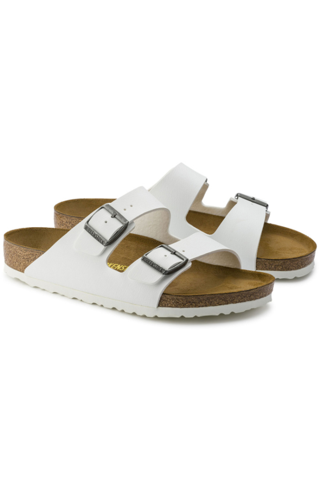 Birkenstock Arizona BS Regular Width in White - Side Cropped Image
