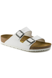 Birkenstock Arizona BS Regular Width in White - Front cropped