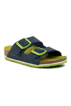 Shoptiques Product: Birkenstock Arizona Kids in Desert Soil/Vibrant Blue