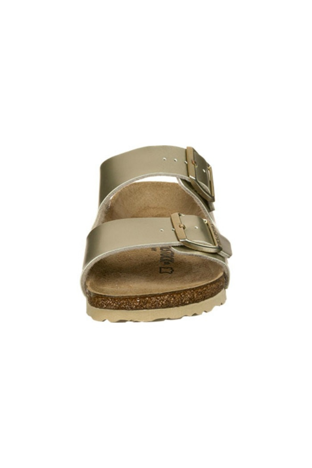 Birkenstock Arizona Kids in Gold - Back Cropped Image