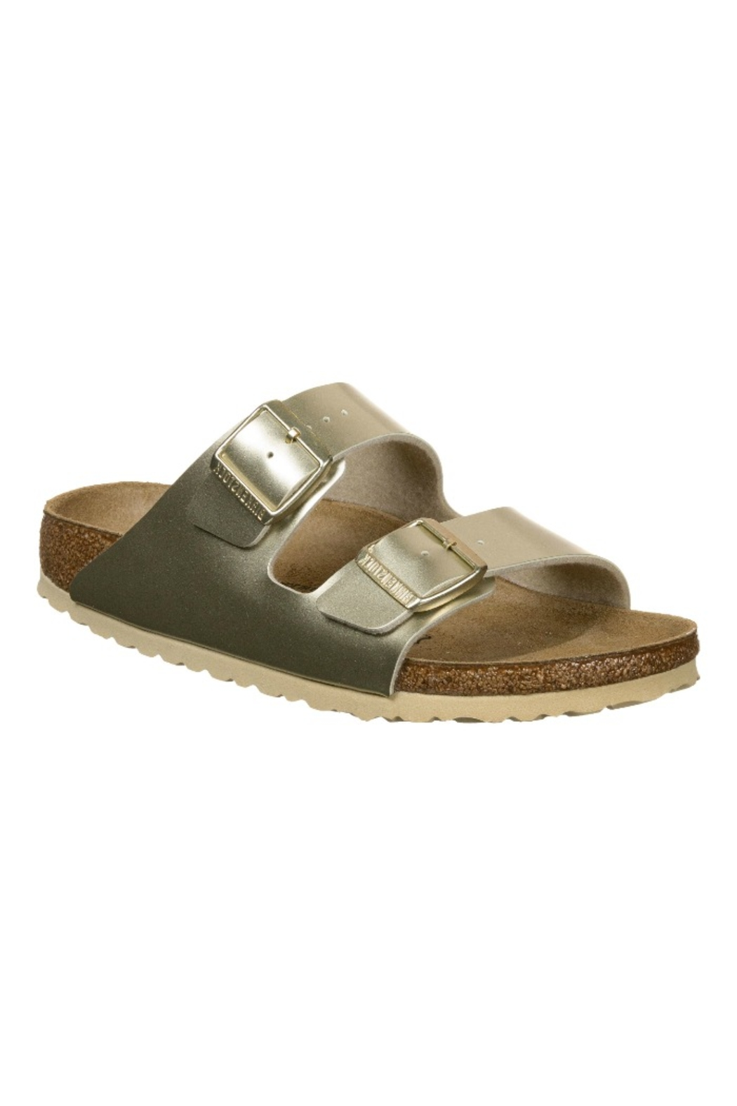 Birkenstock Arizona Kids in Gold - Front Cropped Image