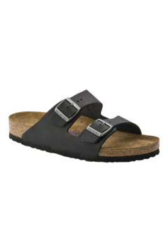 Birkenstock Arizona Oiled Leather in Black - Product List Image