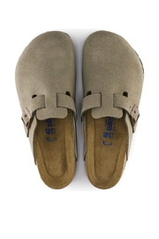 Birkenstock Boston Narrow Width in Taupe - Back cropped