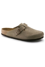 Birkenstock Boston Narrow Width in Taupe - Front cropped