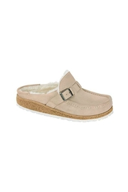 Birkenstock Buckley Suede Leather Shearling - Front cropped