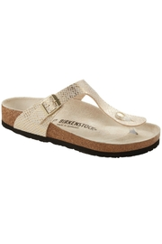 Birkenstock Gizeh in Eggshell Python - Front cropped
