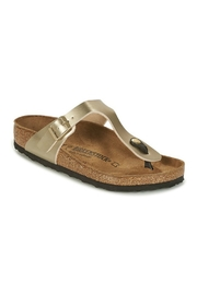 Birkenstock Gizeh in Gold - Front cropped