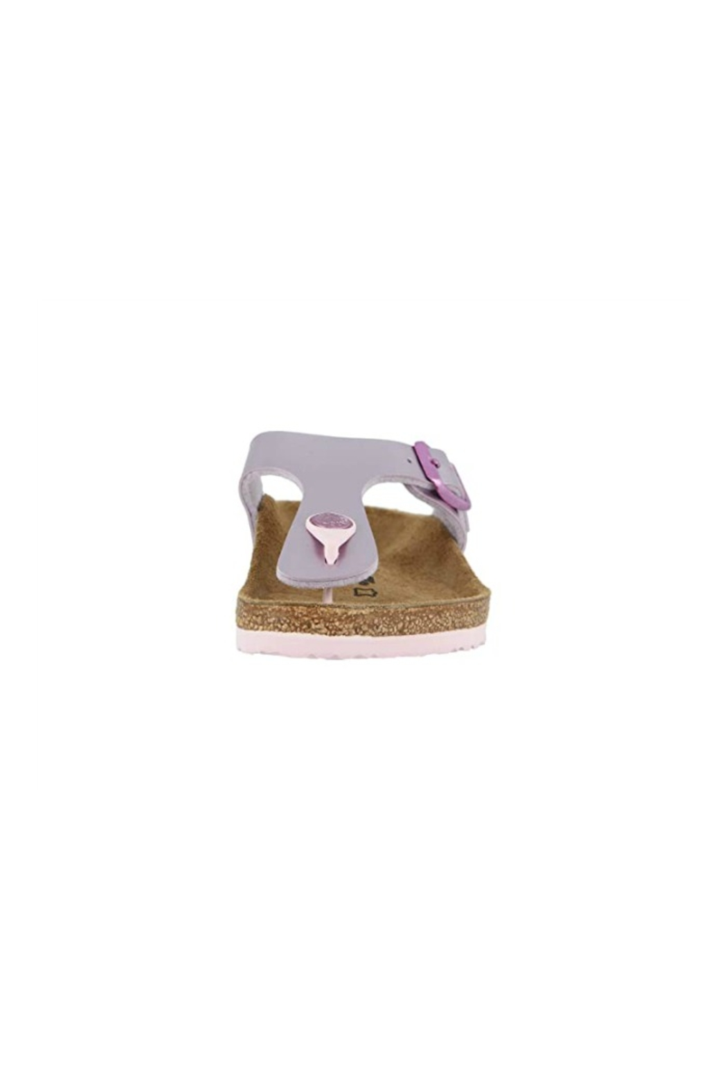 Birkenstock Gizeh Kids in Electric Metallic Lilac - Front Full Image