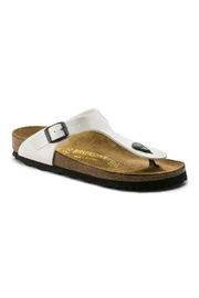 Birkenstock Gizeh Regular Width in White Patent Leather - Product Mini Image