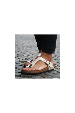 Shoptiques Product: Birkenstock Narrow Gizeh- Graceful Pearl White