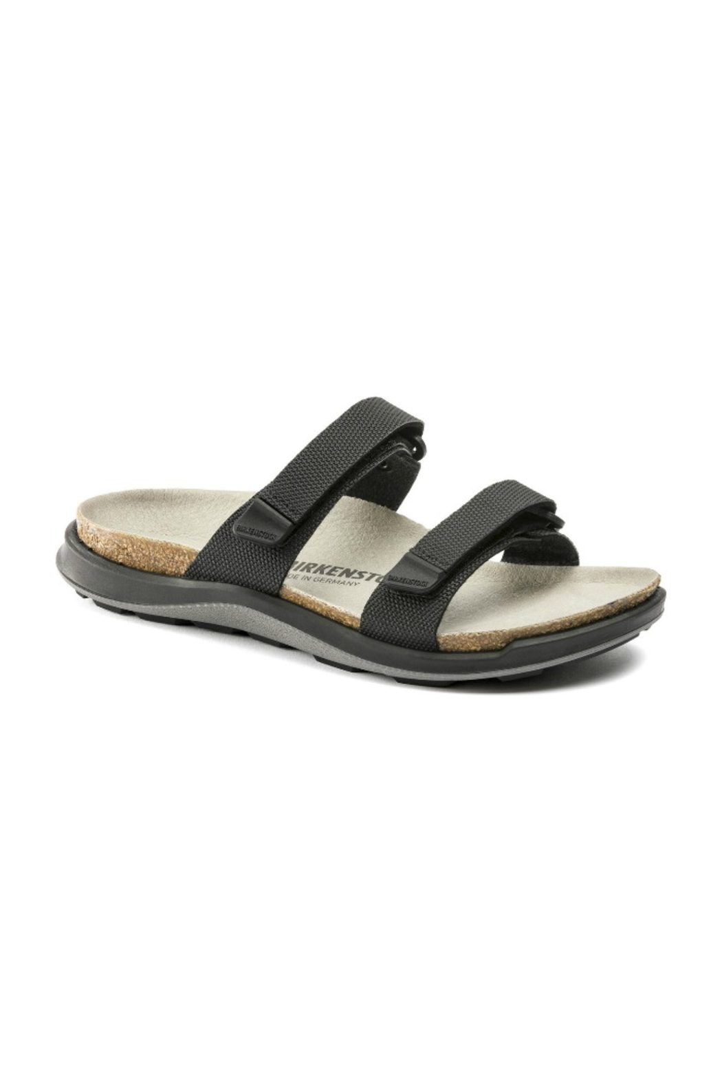 Birkenstock Sahara Narrow Width in Futura Black - Front Cropped Image