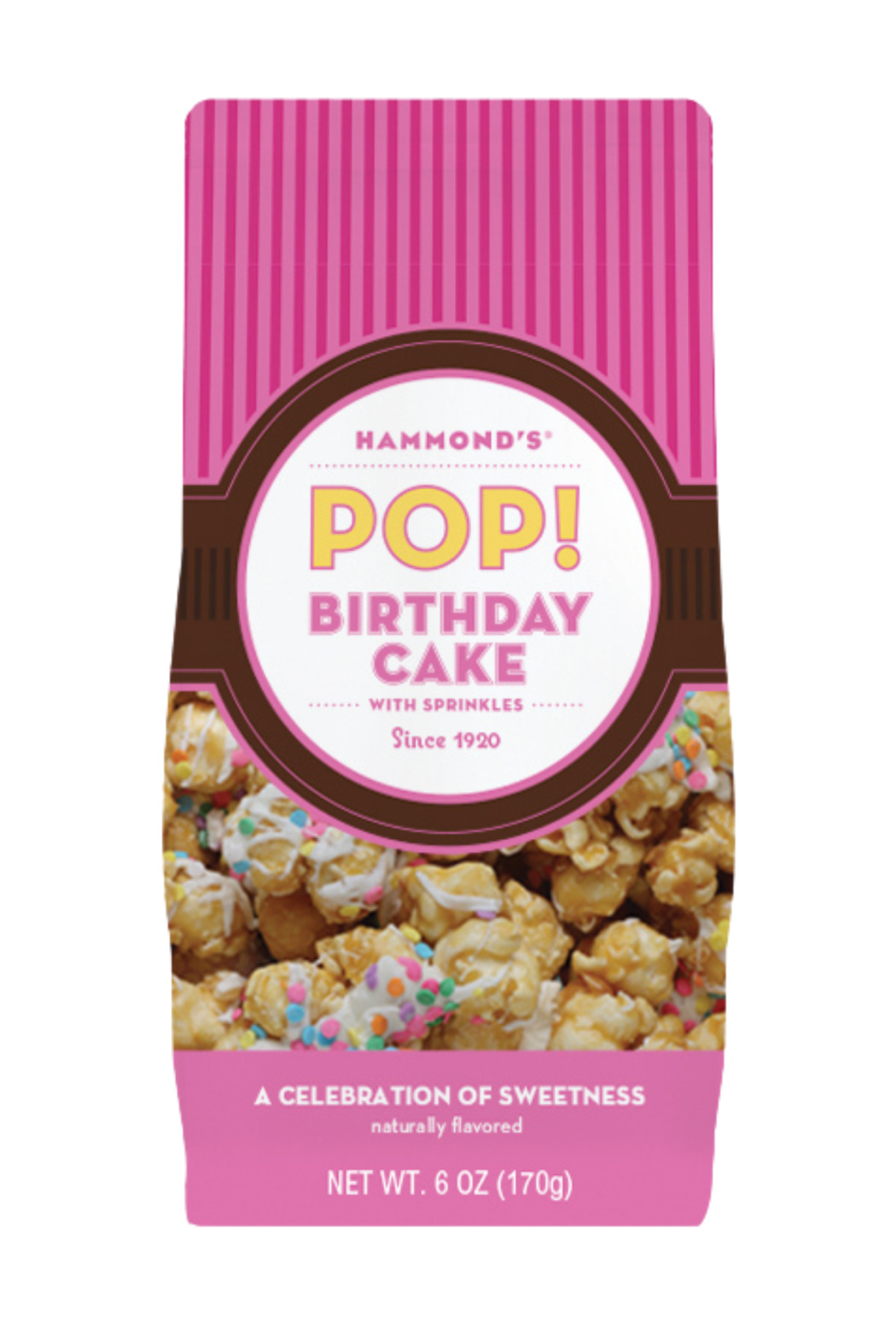 Hammond's Candies BIRTHDAY CAKE POPCORN - Front Cropped Image